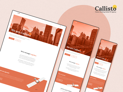 Callisto — Global PR Agency ui  ux brand design website web design graphic design web typography concept design branding