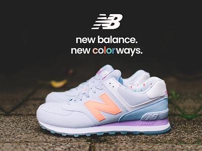 New Balance concept footwear ad advert print design concept branding