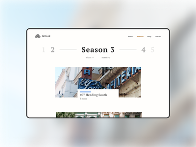 Video Blog Site graphic design visual design web design