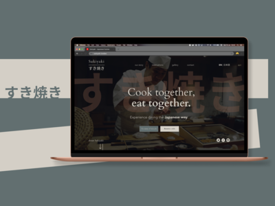 Sukiyaki - Japanese restaurant website design