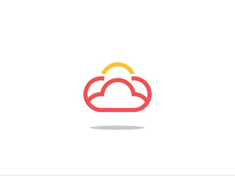 Clouds2 outline logo clouds cloud web flat icon vector logo illustration design branding