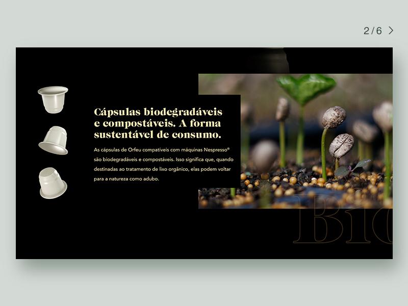 Orfeu Coffee Website ui website icon ux key visual design branding