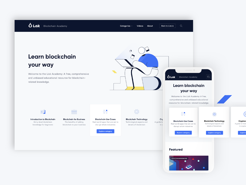 Lisk Visual ID Update brand id ui illustration icon redesign website visual lisk branding and identity blockchain logo branding typography design