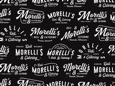 Morelli's Deli & Catering identity branding buchanan jeffrey badge wordmark restaurant catering deli illustartion lettering type typography design logo
