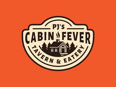 Cabin Fever Sign food bar cabin print signage sign icon badge vector typography lettering illustration design logo branding
