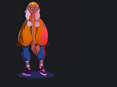Stassi character flat illustration girl character design design photoshop illustration