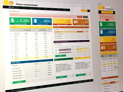 Shell Road to the Championship  dashboard responsive ui  ux design