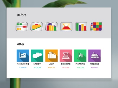 Updating Software Icons design material icons