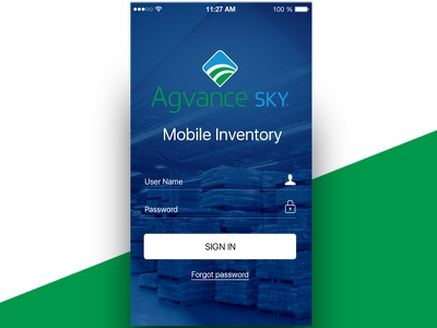 Agvance Inventory App dev uxui