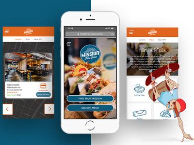 Mission Taco Joint logo ux illustration digital branding responsive ui  ux design