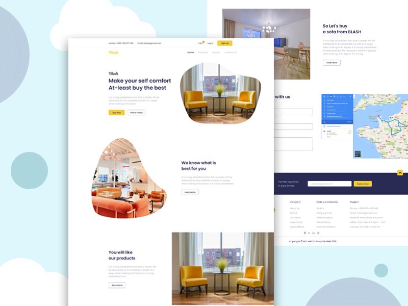 Furniture-Landing Page furniture design creative agency creative  design design landing page web design ux ui