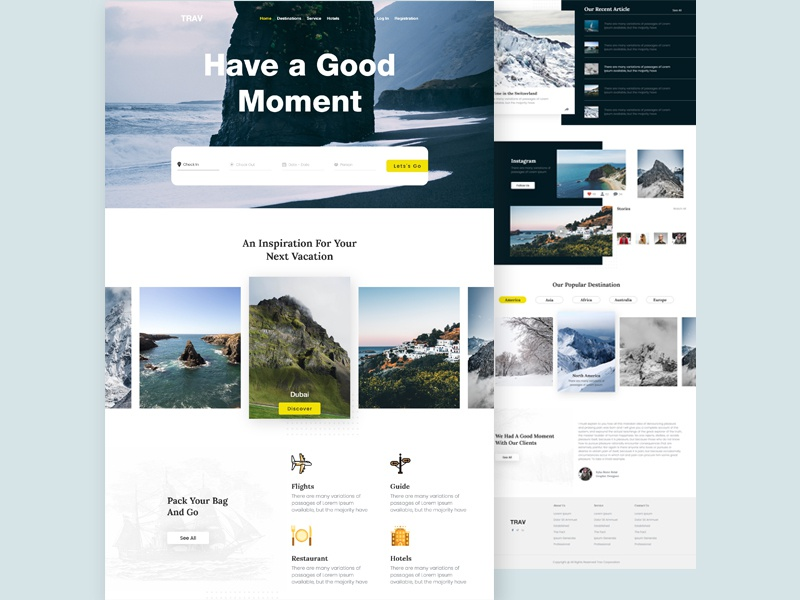 Travel Agency Landing Page travel agency template travel agency landing page travel agency clean design web ui 2019 creative agency landing page creative  design