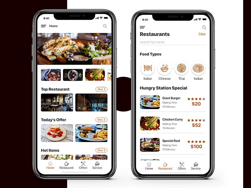 Restaurant App mobile app design restaurant app restaurant design clean ui 2019 creative  design