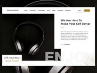 Music Landing Page Header