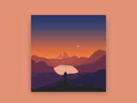 Dusk vector animation ui design illustration