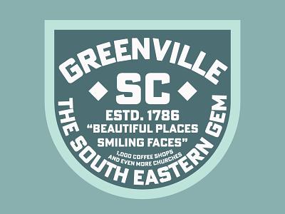 GVL coffee shop branding south carolina sc greenville coffee mint green iconography badge design badge