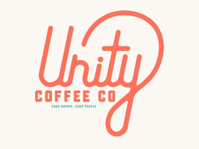 Unity Coffee 10 handlettering typography red coffeeshop coffee unity coffee cup branding