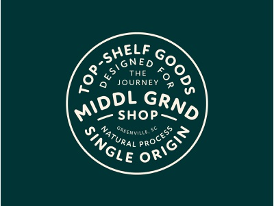 Middle Ground Branding Assets 1/6 green logo illustration design cream badge typography badge design iconography branding