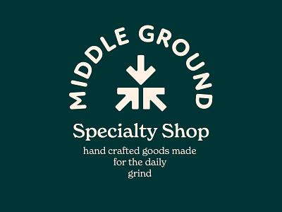 Middle Ground Branding Assets 2/6 logo illustration design cream orange badge typography badge design iconography branding