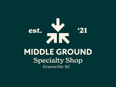 Middle Ground Branding Assets 3/6 logo illustration design cream orange badge typography badge design iconography branding