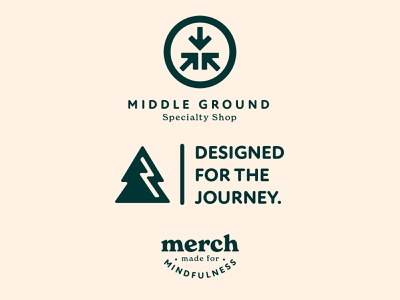 Middle Ground Branding Assets 6/6 logo illustration design cream orange badge typography badge design iconography branding