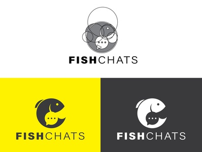 Fish Chat Logo Design logo logo 3d logo design illustration design vector illustrator fishing chat icon fish icon fishing chat logo design fishing logo fishing chat fish logo fish chat logo design fish chat logo fish chat