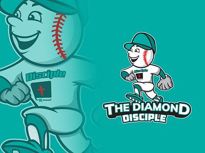 Baseball Mascot Logo Design mascot logo minimal branding typography icon logo logo 3d logo design illustration design vector illustrator baseball logo baseball card baseball hat baseball cap baseball bat baseball