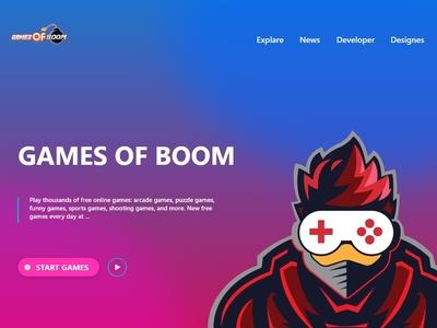 Gaming Ui Web Template design