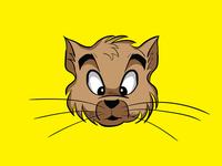 Cat Face Cartoon Design