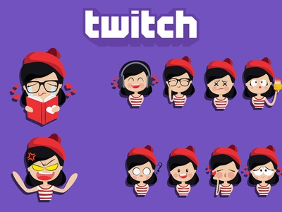 Twitch And Emotes Design