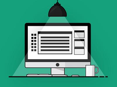 Work Settings illustrators shading vector illustrator art illustration flat design artist art art board