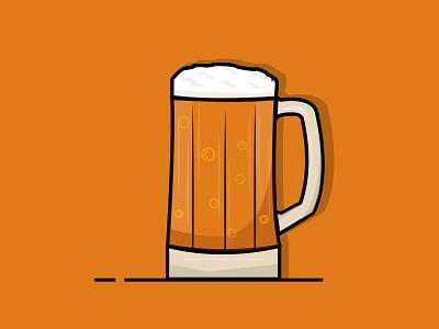 Beer o'clock designer illustrator cc illustrators shading vector illustrator art illustration artist flat art board design