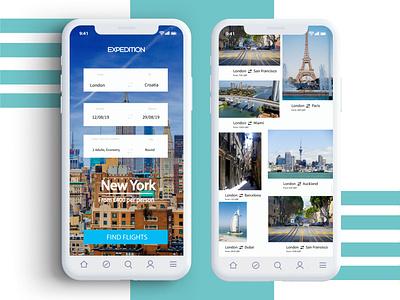 Travel App UI Design travelling explore user experience travelapp app design mobile ui interface interfacedesign adobe adobexd xd uidesign travel photoshop typography ux ui design