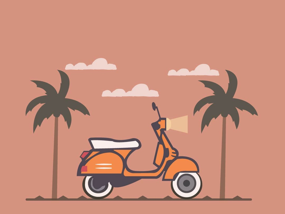 Vespa minimal illustrator cc vectorart vector illustration illustrator illustrator art icon colours shading colour palette illustration art vector illustrators flat illustration design colorful artist art art board