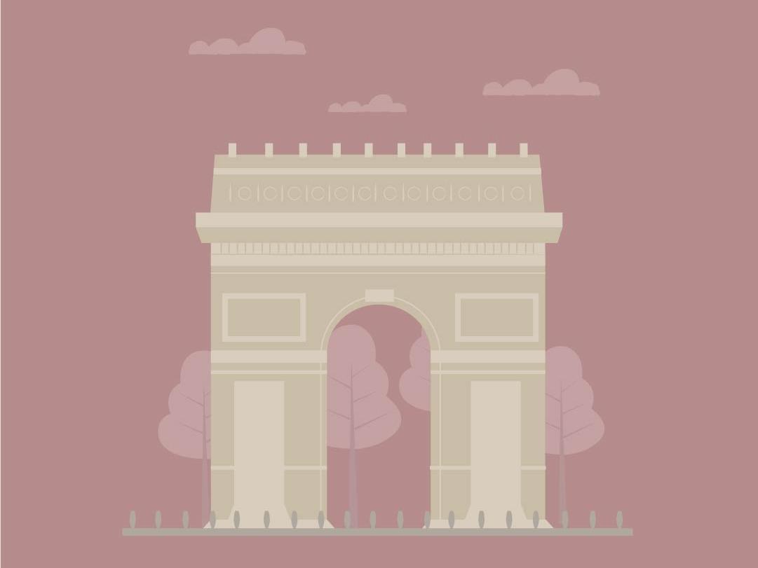 Arc De Triomphe icon minimal illustrator cc vector illustration vectorart illustrator colours shading illustration art illustrators illustrator art flat design vector artist colour palette colorful illustration art art board