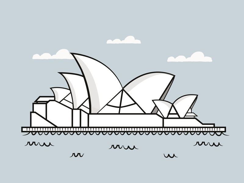 Opera House icon vector illustration vectorart illustrator minimal illustrator cc colours illustration art vector shading illustrators illustrator art illustration flat design colour palette colorful artist art art board