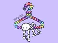 Rainbow Skeleton Hanger