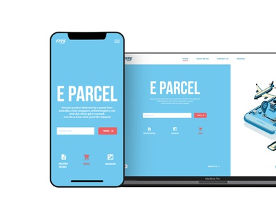 Landing page design for a Delivery Company