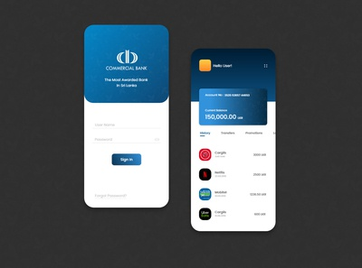 Mobile Banking App Design for a Bank