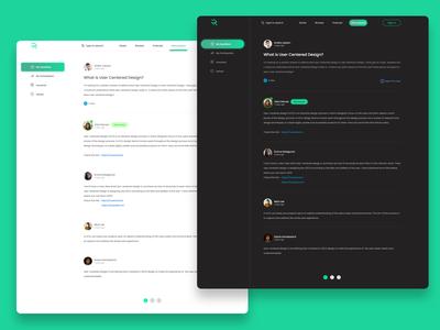 Forum UI design