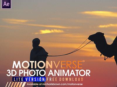 [Free Download] MotionVerse Lite ─ 3D Photo Animator 3d photo animator motionverse after effects still photo 3d photo 3d animation photo animation 2d to 3d