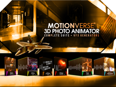 Motionverse ─ 3D Photo Animator Complete Bundle animated gif filmmaker motionverse photo effect after effects 3d animation 2d to 3d photo animation