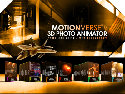 Motionverse ─ 3D Photo Animator Complete Bundle animated gif filmmaker motionverse photo effect after effects 3d animation 2d to 3d photo animation