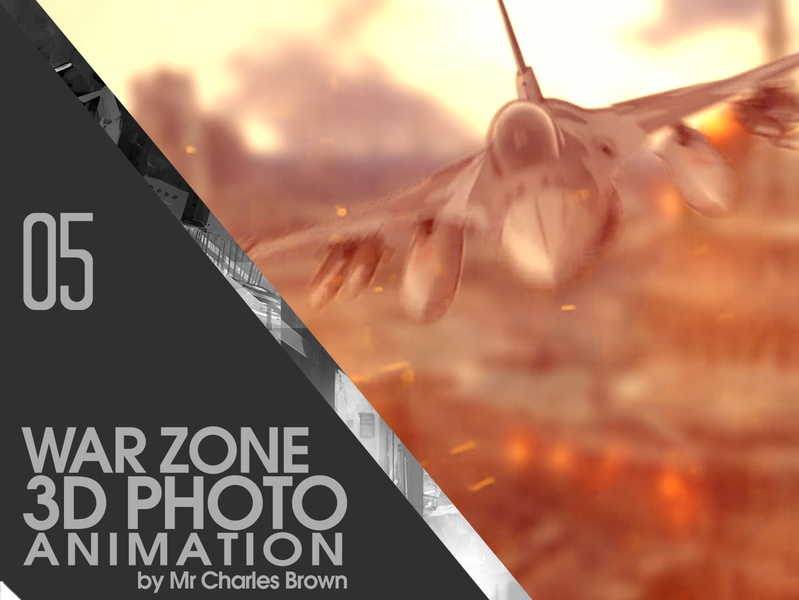 War Zone 3D Animation in After Effects │MotionVerse Tutorial image effect creativemarket tutorial education motionverse after effects 2d to 3d 3d animation photo animation