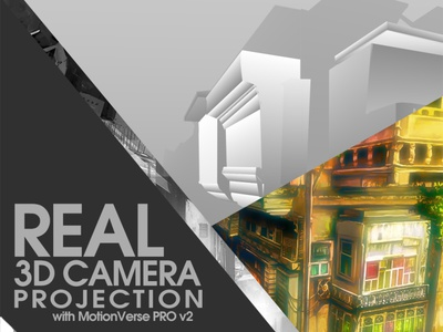 High-Level 3D Camera Projection in After Effects │MotionVerse education hollywood vfx film 3d modelling adobe creatmarket videohive envato 2d to 3d 3d photo cinematic parallax 3d parallax 3d projection 3d camera ae tutorial after effects tutorial camera projection camera