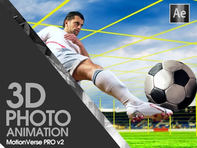 Football Player Photo Animation + Camera Projection in AE nuke envato creativemarket motionverse education after effects tutorial 2d to 3d 3d camera 3d projection projection camera projection parallax photo animation