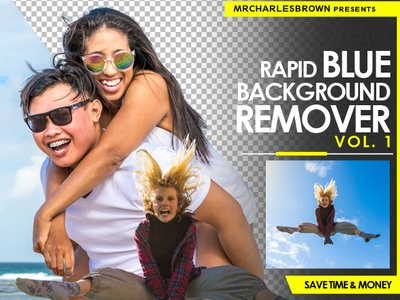Rapid Blue Background Remover creativemarket actions graphicriver actions background removal sky background remover outdoor background studio background education tutorial image effect blue background remover blue screen photoshop action intense background remover