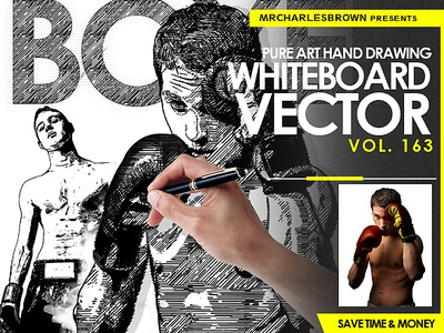 Pure Art Hand Drawing 163 – Whiteboard Vector royalty-free stock richworks marketplace creativemarket envato graphicriver tutorial photo to vector photo to outline illustrator photoshop path vector whiteboard outline sketch drawing pure art hand drawing photo effect photoshop action