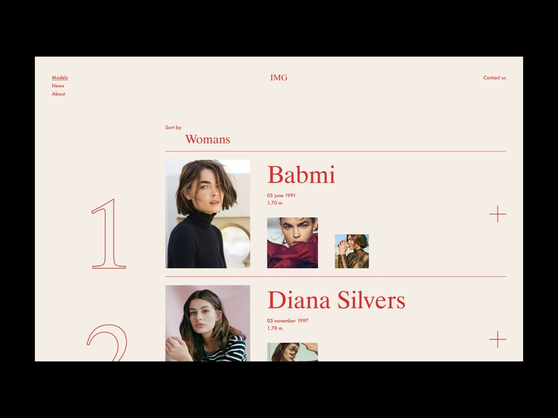 IMG concept branding minimal screen interface interaction fashion ui ux design web models