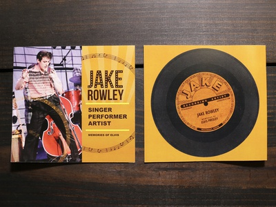 Brochure Cover Design for Jake Rowley
